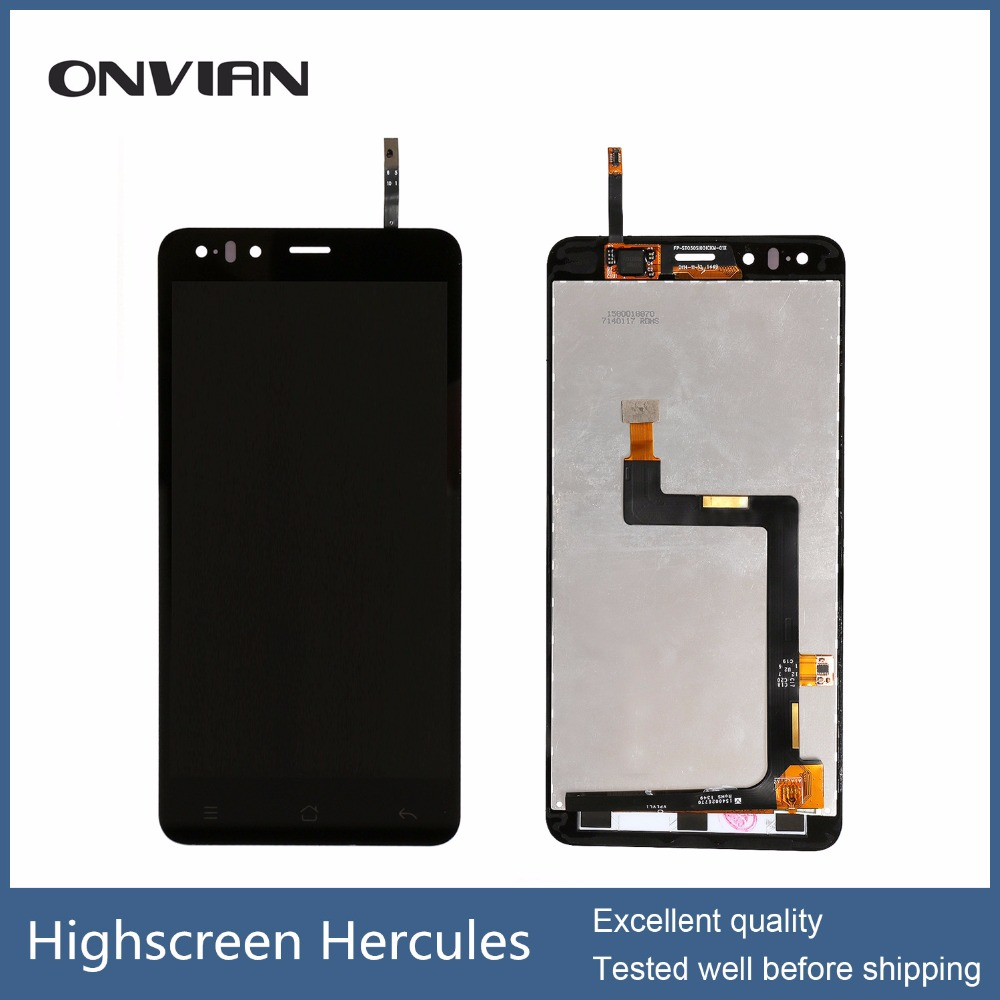 Tested well 5 lcd For highscreen Hercules LCD Screen Display with Touch screen Digitizer Assembly