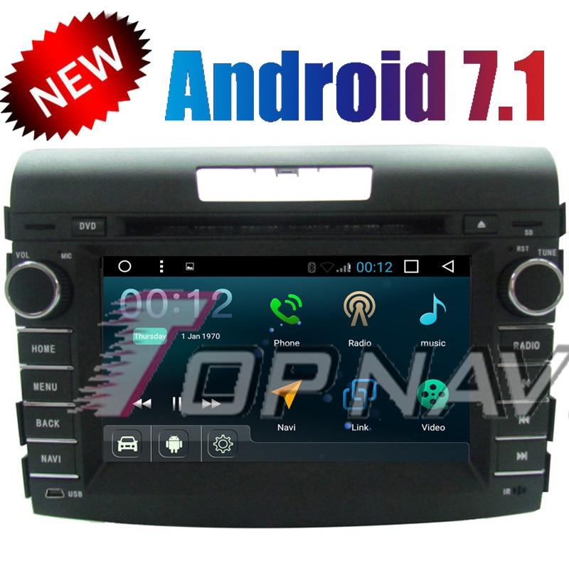 Topnavi Quad Core Android 7.1 Car DVD Multimedia Player Radio for Honda CRV 2012 2013 Autoradio GPS Navigation Auto Audio Stereo