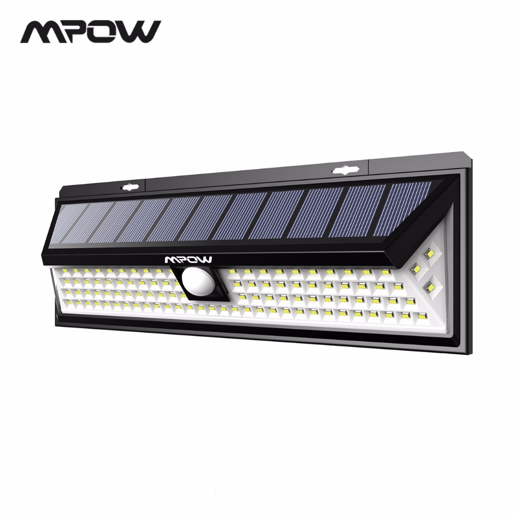Mpow CD126 Super Bright 102 LED Solar Light Waterproof Outdoor Garden Secure Lights Lamps With Motion