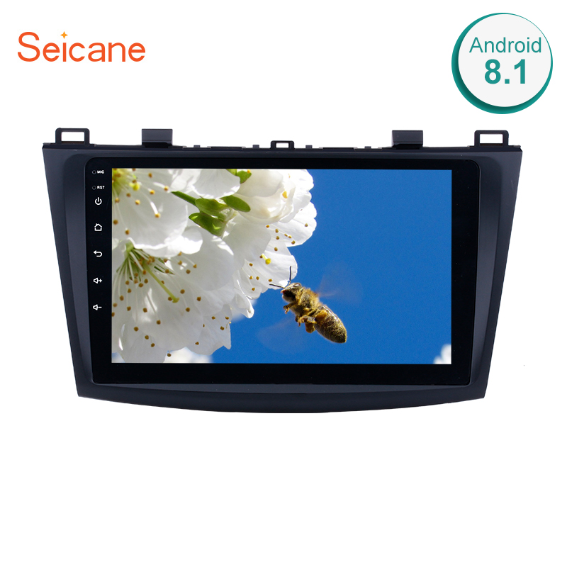 Seicane 9 Inch Android 8.1 Car <font><b>Radio</b></font> For 2009 <font><b>2010</b></font> 2011 2012 <font><b>MAZDA</b></font> <font><b>3</b></font> GPS Navi Wifi 3G Multimedia Player Head Unit Auto Stereo image