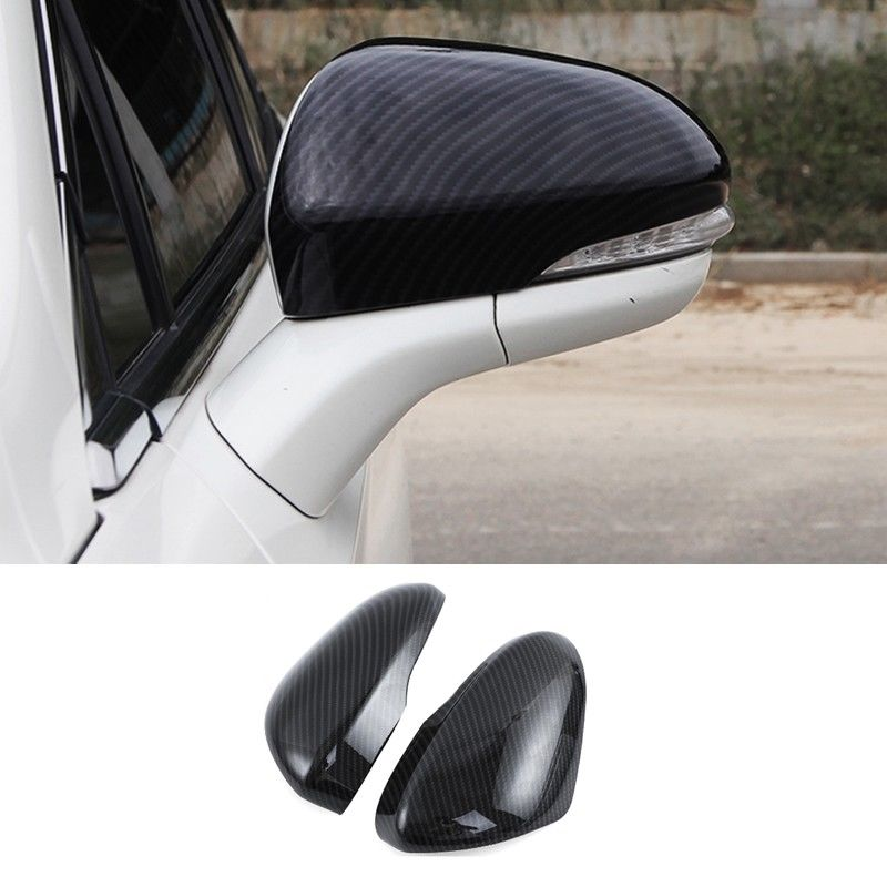 Carbon Fiber ABS Rearview Mirrors Cover Trim For Ford Fusion Mondeo 2013 2018 Auto Replacement Parts Exterior Parts Black Red