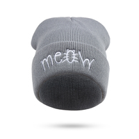 2017 Meow Winter Hat For Women And Men Beanies Diamond Knitted Warm Hip Hop Bad Hair Day Wool Caps Hat Female Skullies Beanies