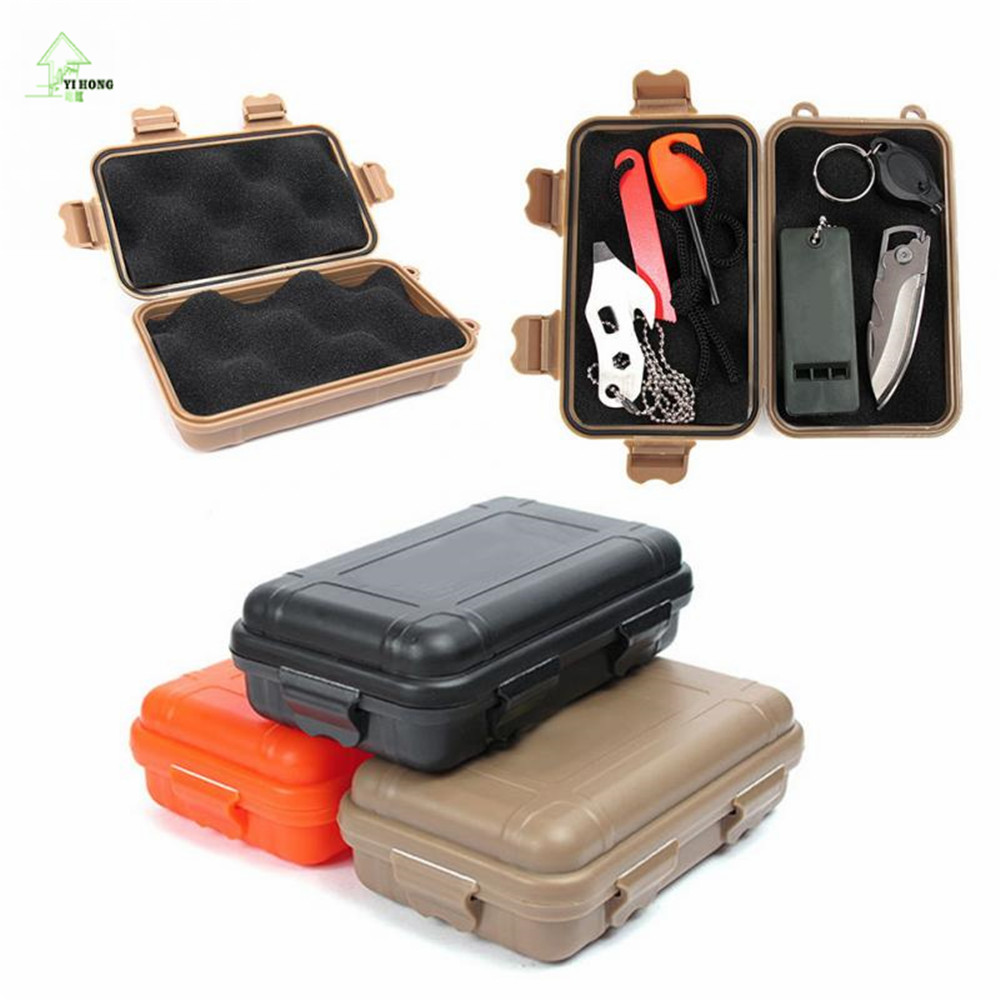 YI HONG S/L Size Outdoor Plastic Waterproof Airtight Survival Case Container Camping Outdoor Travel Storage Box A1070c