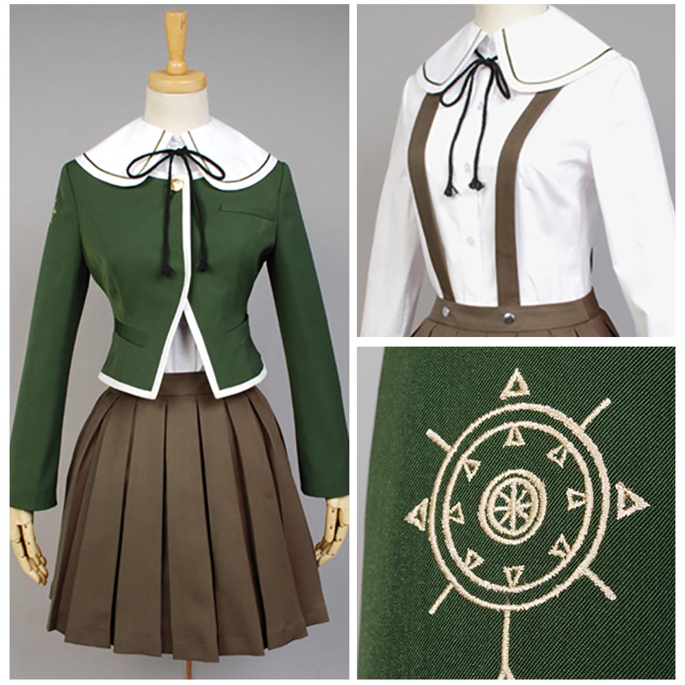 Dangan ronpa Danganronpa Chihiro Fujisaki Cosplay Costume For Women Girls Halloween Carnival Costumes