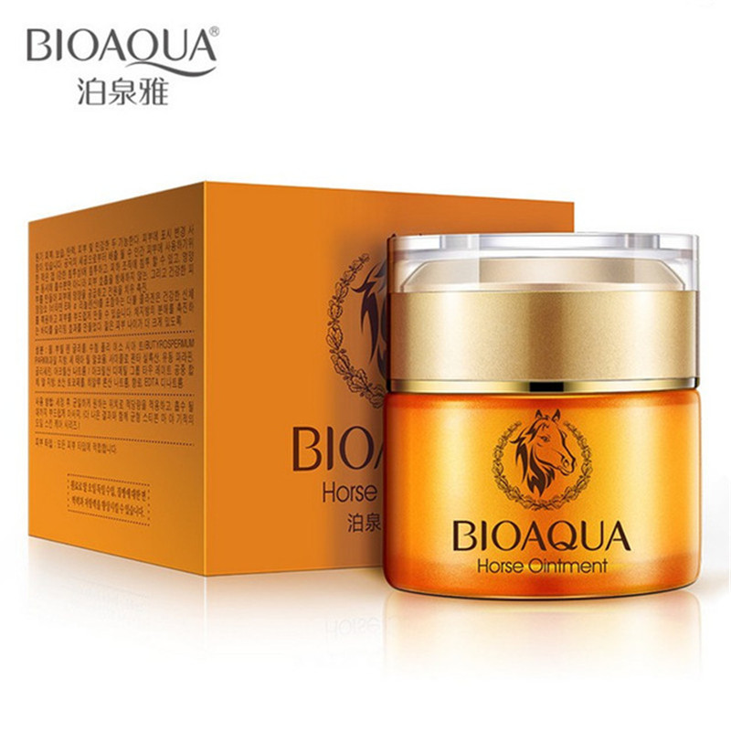 BIOAQUA Snails Horse Nourishing Face Cream Whitening Moisturizign Anti Wrinkle For Fine Lines removal Nourish Skin Care 50g