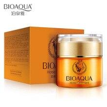 BIOAQUA Snails Horse Nourishing Face Cream Whitening Moisturizign Anti Wrinkle For Fine Lines removal Nourish Skin Care 50g