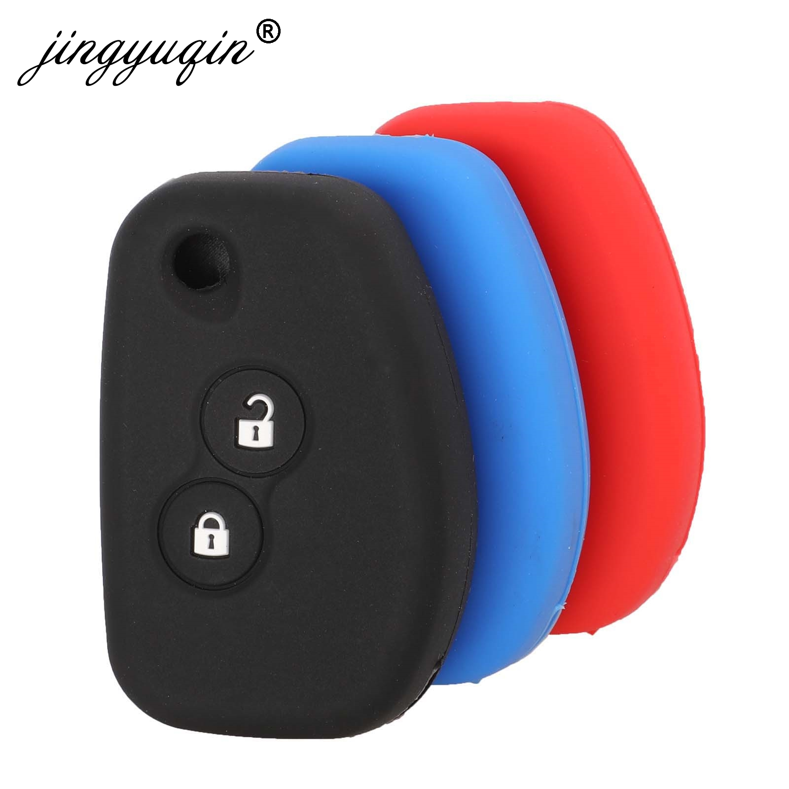 Jingyuqin Silicone Car Modified Flip Key Case Cover 2 Buttons For Renault Kangoo DACIA Scenic Megane Sandero Captur Twingo Modus