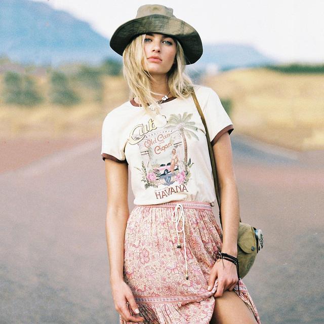 Gypsy Cuban Boho T-shirt & Maxi Skirt