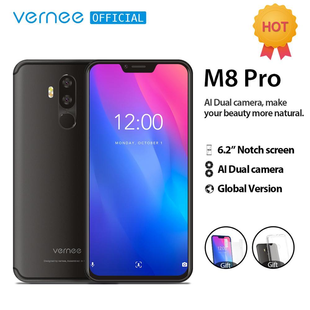 Global Version Vernee M8 Pro Cellphone 6 2 notch Screen Octa core 6GB RAM AI Dual