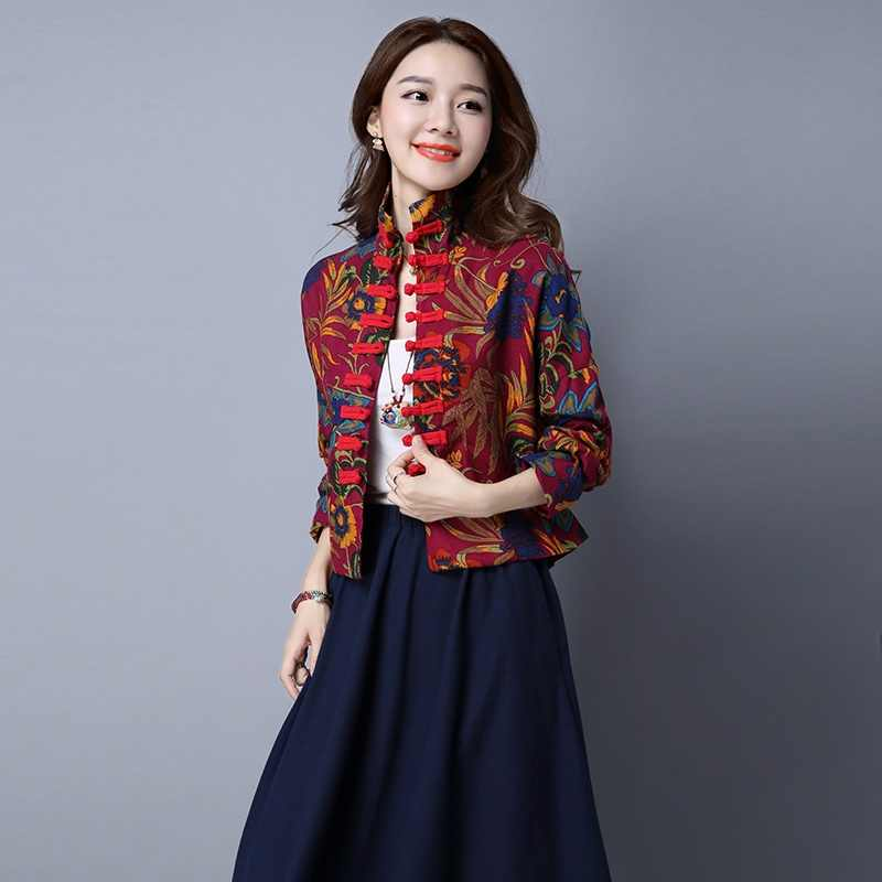 Традиционная китайская одежда для женщин cheongsam Топ воротник-стойка Женские топы и блузки Восточная китайская одежда TA795