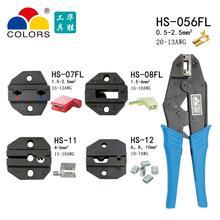 HS-056FL Тип флага женские сосуды терминал обжимные плоскогубцы ручной инструмент неизолированный знак Мужской терминал обжимной alicate