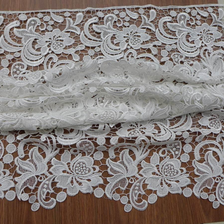 Venise ลูกไม้ผ้า, guipure ลูกไม้, สีขาว, ชุดแต่งงานลูกไม้ผ้า-ใน ผ้า จาก บ้านและสวน บน   3
