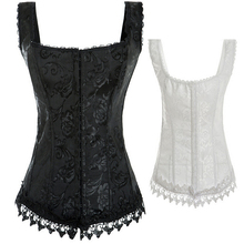 NEW vest lace edge wedding underbust Sexy Waist Workout Cincher Body Shaper Shapewear Corset S-XXL 0894 for Women girl