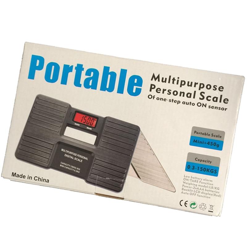 Multipurose Personal Electronic Scale 150kg 0 1kg Portable Digital Lcd Bathroom Body Floor Weight Balance Human
