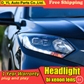 Styling de carro para honda hrv faróis para vezel vfc cabeça levou Anjo lâmpada olho levou DRL luz frontal Lente Bi-Xenon HID xenon