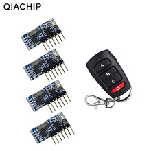 QIACHIP RF Remote Control Transmitter & 433Mhz Wireless Receiver Learning Code 1527 Decoding Module 4 CH Output Learning Button(China)