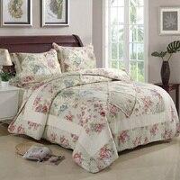 Chausub хлопок лоскутное одеяло набор 3 шт./4 шт. корейский цветочный покрывало стеганые постельные принадлежности пододеяльник наволочка одея