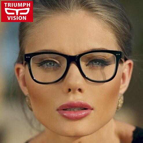 2019 Neuer Stil Triumph Vision Frauen Brillen Rahmen Schwarz Mode Ultralight Brillen Unisex Vintage Brillengestell Frauen Männer Brille