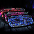 M200 Red/Purple/Blue Backlight LED Pro Gaming Keyboard Competitive Game Color Changing Backlit Keyboard Russian Version Option