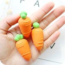 Gommes adorables motifs carotte 1x Kawaii, Mini fournitures scolaires, papeterie correctrice en caoutchouc pour enfants