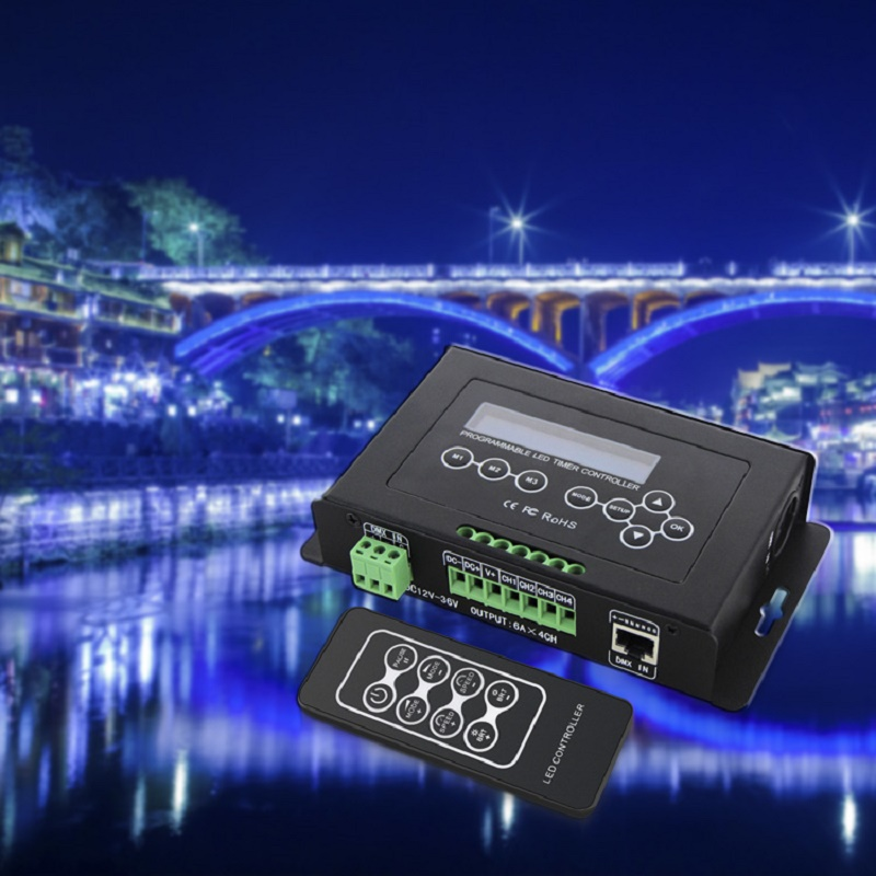 RGB RGBW Tape Controller programmable Timer BC 300 DC12V 36V Time programmable LED Controller Light DMX 512 Controller - 4