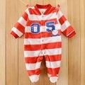 2016 Do Corpo Do Bebê Bebe Macacão de Lã Das Meninas Dos Meninos Roupa Infantil Borboleta Roupa Do Bebê Recém-nascido Macacão de Inverno, o Corpo Para A Roupa