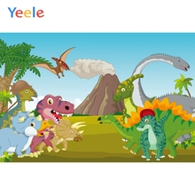 Yeele Cartoon Animals Backdrops Dinosaur Baby Party Photography Background Customized Photographic Backdrop For Photo Studio