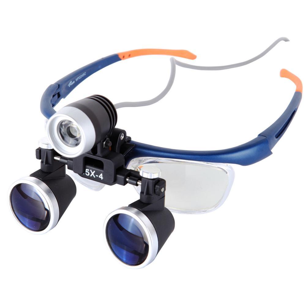 3.5X-4 Medical Surgical Loupe Magnifier W/ 3W Dental Surgery Headlight Headlamp 2016 high intensity dental loupe headlight surgical headlamp medical surgery magnifier led head light