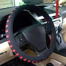 38 см искусственная кожа Универсальная автомобильная крышка с отверстием для рулевого колеса автомобиля-Стайлинг Спорт авто Противоскользящие автомобильные аксессуары для интерьера
