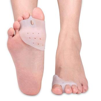 Silicone Gel Forefoot Insoles Pads Orthopedic Hallux Valgus Bunion Corrective Toe Separation Orthotic Insole Pad Shoes Inserts