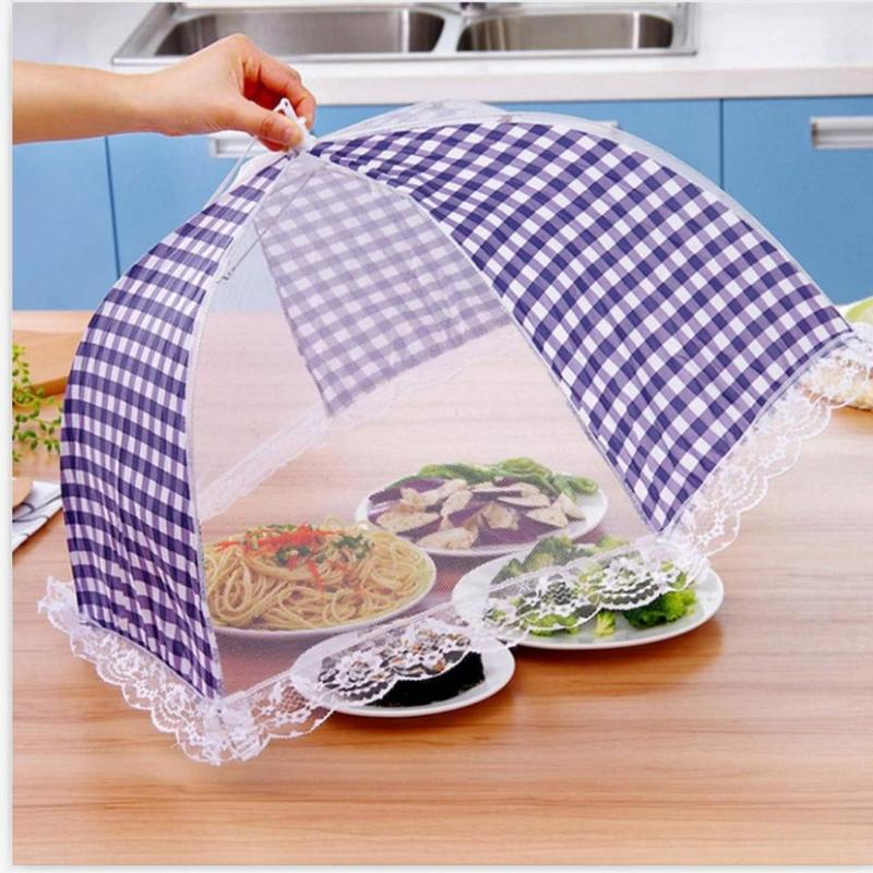 Dish Mosquito-Umbrella Picnic Kitchen Folding Mesh Food-Cover Hygiene-Grid-Style Anti-Fly