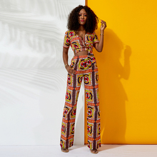 african clothes for women fashion jumpsuit ankara clothing sexy V neck collar plus size