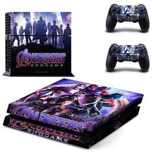 Image 1 - Виниловая наклейка на кожу, Мстители, эндшпиль, Железный человек, Человек паук, PS4, для консоли Playstation 4 и 2 контроллера PS4