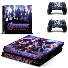 The Avengers Endgame Iron Man Spiderman PS4 Skin Sticker Decal Vinyl for Playstation 4 Console and 2 Controller PS4 Sticker Skin