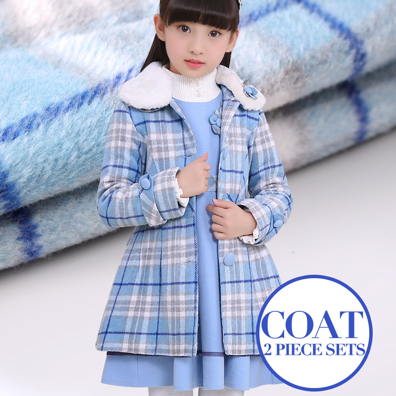 bow floral girls dresses children princess clothing winter wool 2-pcs sets kids girls down overcoats and dresses robe fille autumn winter plaid wool two pieces girls children suit vest dress kids clothing sets white red wool