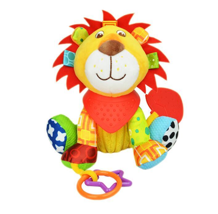 Sozzy Multifunctional Baby Toys Rattles Mobiles Soft Cotton Infant Pram Stroller Car Bed Rattles Hanging Animal Plush Toys