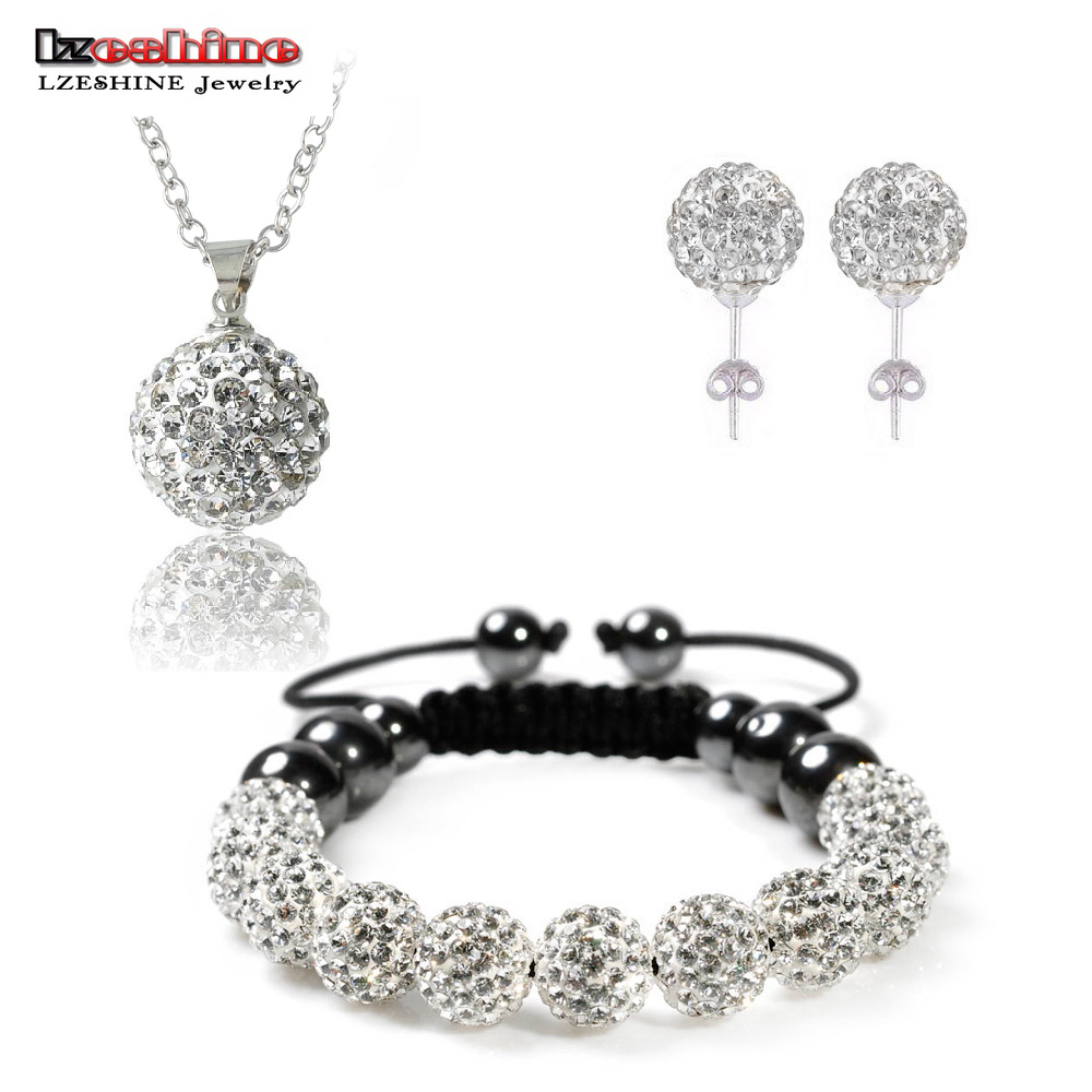 Fashion crystal shamballa set necklaces pendants for Decor jewelry