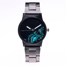 2018 New Creative Floral pattern Watches Women Fashion Watch Stainless Steel Reloj Mujer Ladies Quartz Relogio Feminino