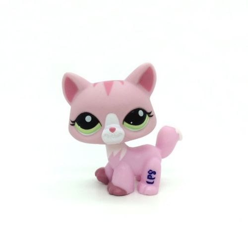 New Pet Collection Figure LPS Green Eye 1788 Walking Pink Cat Rare font b Toys b