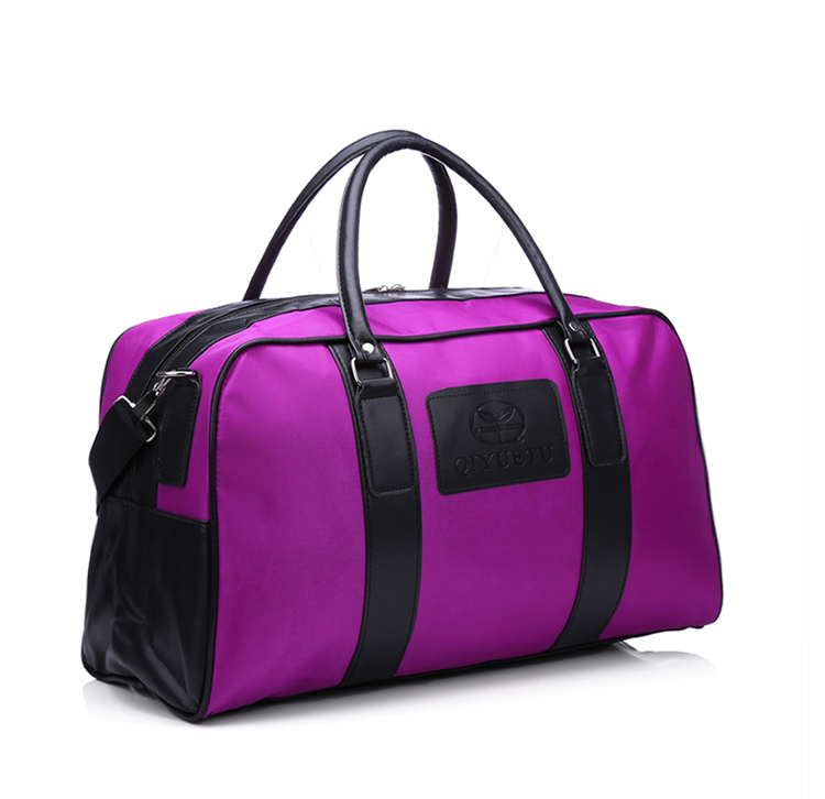 Custom Purple Water Proof Light Weight Travel Duffle
