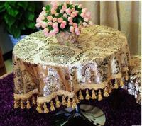Round table cloth, ice cream, ironing, gold, European style tablecloth tablecloth cloth