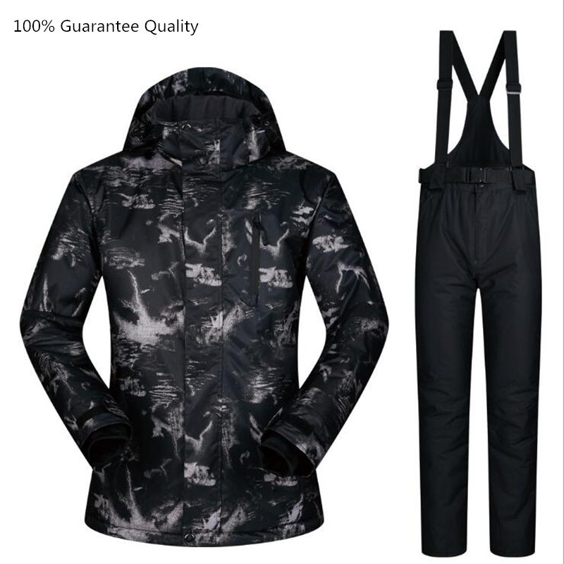 Veste de Ski + pantalon homme combinaison de Ski ensembles imperméable coupe-vent respirant hiver marque Ski neige extérieur snowboard homme vêtements