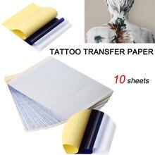 Tattoo โอนกระดาษ 10 ชิ้น Tattoo โอนกระดาษ Stencil คาร์บอนความร้อน Tracing Hectograph แผ่น Tattoo เครื่องมือ 35