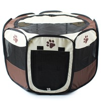 3 Colors Portable Pet Dog House Cage Folding Dog Cat Outdoor Bed Tent Breathable Big Space