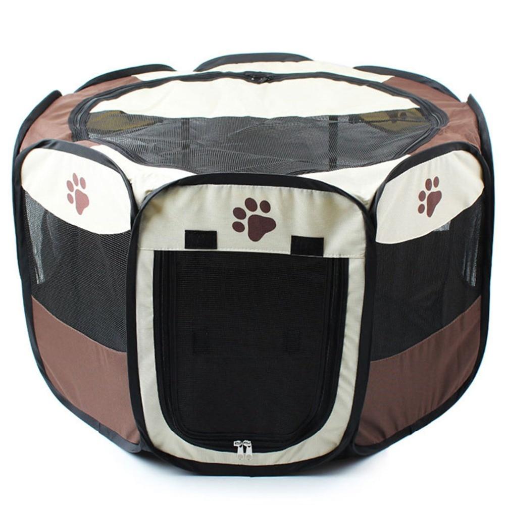 3 couleurs Portable Pet Chien Maison Cage Pliante Chien Chat En Plein Air Tente Lit Confortable Respirant Grand Espace Chenil Pour Animaux de Compagnie chiens Chats