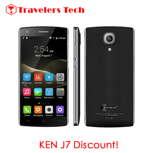 Original KENXINDA J7 5.0 Inch 3G Smartphone 1GB RAM 8GB ROM MT6580M Quad Core Android 5.1 Lollipop Black Cell Phone 3100mAh