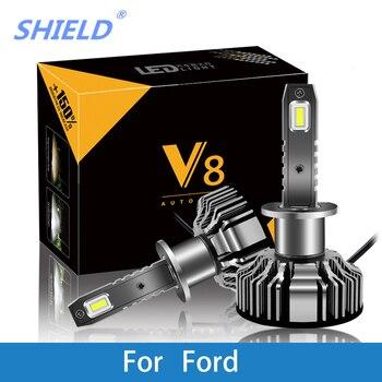 Auto Faro Per Ford Focus Fiesta Ranger F53 Kuga Mondeo H7 LED H4 LED H1 H7 H3 9005 6500 K 8000LM CSP Lampadina Della Luce di Nebbia