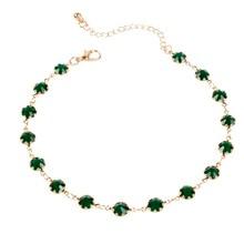 Fashion Green Zircon Gold Silver Chain Choker Necklace Women Geometric Statement Necklaces Collier Femme Jewelry цена и фото