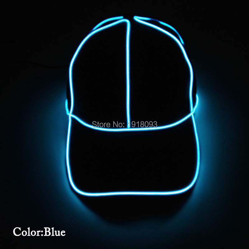 2017 New Style 10color Select El Wire Glowing Baseball Cap Led Strip Neon Rope Tube Neon Light With Dc-1.5v Steady On Inverter