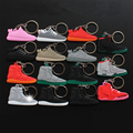 15Pcs/lot Mini Silicone Key Chain Yeez 2 750 350 Keychain Key Ring Simulation Yeezy Boost Sneaker Pendant Toys For Children